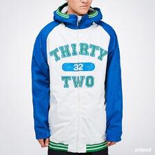 ThirtyTwo Sesh Jacket Mens Snowboard Ski 8k Waterproof Shell Coat Blue White M