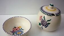 Vintage 50/60s Poole lidded sugar bowl and 1 other bowl