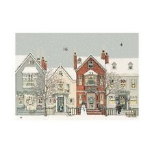 Sally Swannell Traditional Snowy Street Advent Calendar Card