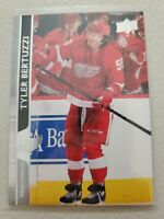Tyler Bertuzzi 2020-21 Upper Deck Series 2 French Variation SP #317 Red Wings