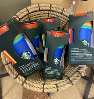 STARBUCKS COLOR CHANGING SUMMER PRIDE 2020 COLD CUPS REUSABLE 5 PACK 🌈Rainbow🔥
