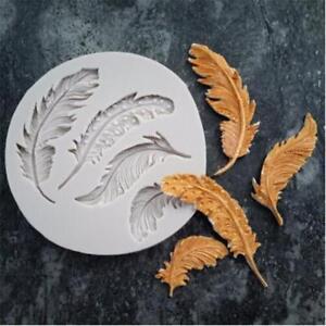 Feather Silicone Mold Fondant Cake Decorating Chocolate Sugarcraft Mould BB