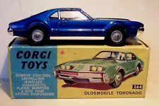 Corgi Toys 264 ★★★ Oldsmobile Toronado metallic blue BOXED & ORIGINAL ★★★