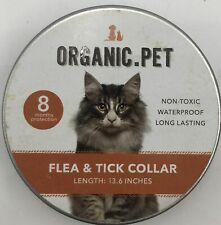 Organic Pet Flea and Tick Prevention Collar for Cats or Dogs- 8 Month Protection
