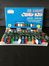 Vintage Christmas C7 Light Strings 25 Lights Tested & Works Indoor/Outdoor