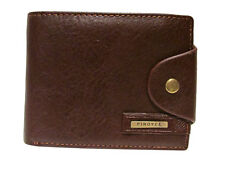 Brown Leather Wallet Purse For Men Bifold