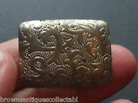 ANTIQUE VINTAGE ART DECO SILVER PLATED BELT BUCKLE CLASP CLIP RETRO COSTUME OLD