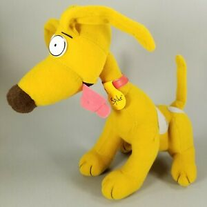 """Vintage 1996 Nickelodeon Rugrats SPIKE The Dog 12"""" Stuffed Plush Doll Applause"""