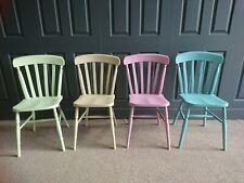 Refurbished Painted Set 4 X Slatback Farmhouse kitchen dining Chairs