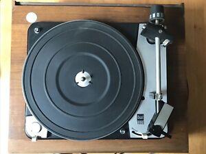 Dual Plattenspieler 1009 Holz mit Plexiglashaube + Bedienungsanleitung + Adapter