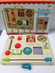 Vintage 1975 Boxed Fisher Price Activity Center 134 Playset Collectible #814