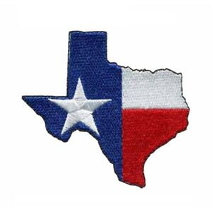 Texas State Flag USA Embroidered Patch - Iron On/Sew On