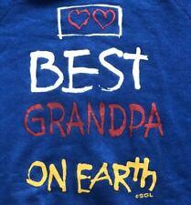 Best Grandpa One Earth Blue Vintage 1980s 80s Crewneck Sweatshirt Size Medium