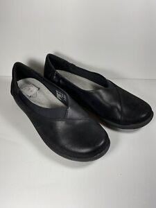 Clarks Cloud Steppers Sillian Jetay Women's Flat Shoes Size US 8 M Black