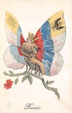 Russia, Fantasy Image, Country'S Symbol A Butterfly, Les Allies Set c. 1914-18