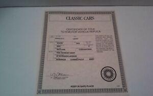 Danbury Mint 1953 Buick Skylark Convertible Red Paperwork ONLY Die-Cast 1:24