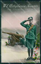 Militari WWI Propaganda Artiglieria Pesante Foto cartolina XF0391