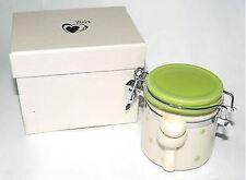 Bomboniera Zuccheriera baratolino in ceramica colore beige-verde pois art IL321
