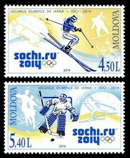 Moldova stamps 📯 Winter Olympic Games, Russia, Sochi, MNH, 2014, 2v