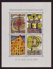 Österreich 2008 ** Block 47 Hundertwasser Postfrisch siehe scan