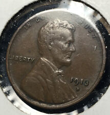 1913-D Lincoln Wheat Cent - Semi-key Date -VF CONDITION-  Nice Looking Coin