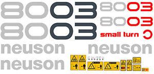NEUSON 8003 DIGGER DECALS STICKER SET