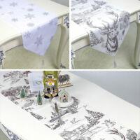 Tischläufer Hirsch Schneeflocke 200 x35 cm Tischdekoration Weihnachten Dekor