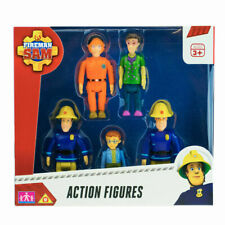 Fireman Sam Action Figures 5 Pack Elvis, Dilys, Norman, Pilot Tom, Fireman Sam