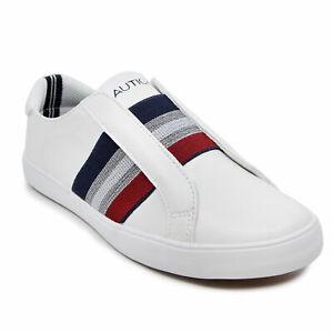 Nautica Womens Bennet 2 Stripe Slip On Sneakers