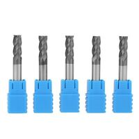 5Pcs CNC Milling Cutter Carbide End Mill 4 Flutes Milling Cutter Tool Kit 6 X5Z2