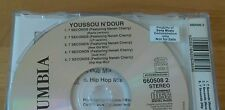 Youssou N'Dour Neneh Cherry 7 Seconds 1994 Euro CD Single With Demo Sticker