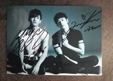 signed TVXQ 東方神起 Changmin Max Yunho U-Know autographed group photo 5*7 112018A
