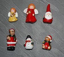 Dekoration Weihnachten Figuren 6erSet 3,5 - 5,2 cm h verschiedene Motive Deko