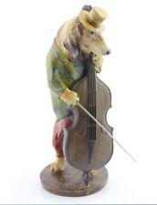 MUSICIAN DOG ORNAMENT BASS PLAYER  BAND JAZZ