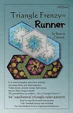 Triangle Frenzy Table Runner ~ Quilt Pattern by Bunnie Cleland ~ AED 162