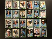 1981 Topps TORONTO BLUE JAYS Complete TEAM Set DAVE STIEB Bob BAILOR Rick BOSETI