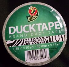 Duck Brand Zig Zag Zebra Printed Duct Tape, 1.88 Inches x 10 Yards, Single New