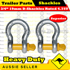 "Superior 3/4"" 19mm Galvanized D-Shackle Rated 4750kg - Boat Trailer Marine"