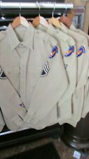 WW2/Korean war era USAAF officer uniform shirts, khaki, size medium, all wool.