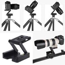 Z-Type Camera DSLR Folding Tripod Flex Pan Tilt Ball Head Desk Holder Mount BK