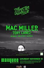 "Mac Miller/Tory Lanez/Michael Christmas""Good Am Tour""2016 Phoenix Concert Poster"
