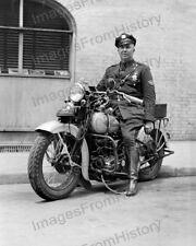 8x10 Print Patrol Officer Harley Davidson Motocycle 1939 #HDMP