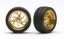 Pegasus 1248 1/24-1/25 Diablos Gold Rims w/Tires (4)