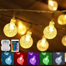 Battery Operated String Lights USB Powered 16 Colors Globe LED Fairy String with