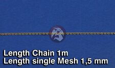 Royal Model 1/35 Metal Chain (C) Single Mesh 1.5mm (Chain Length 1 meter) 518