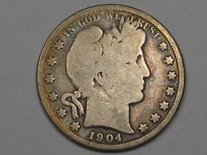 Better-Date 1904-s US Barber Half Dollar. #23