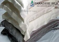 2 PCS Charmeuse 19MM Soft Silk Pillow Shams Envelope Pillowcase  With Flange