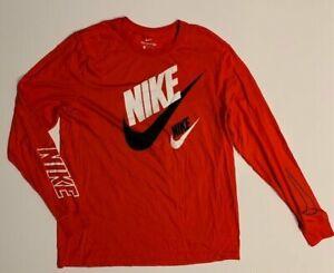 NWOT Nike Sportswear Men's Large Orange Long Sleeve T-shirt