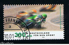 GERMANIA 1 FRANCOBOLLO PRO SPORT GARA MOTOCICLISMO 1999 usato