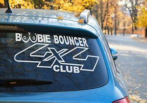 Boobie bouncer 4x4 Club off road sticker patrol Landcruiser ranger 9 COLORS